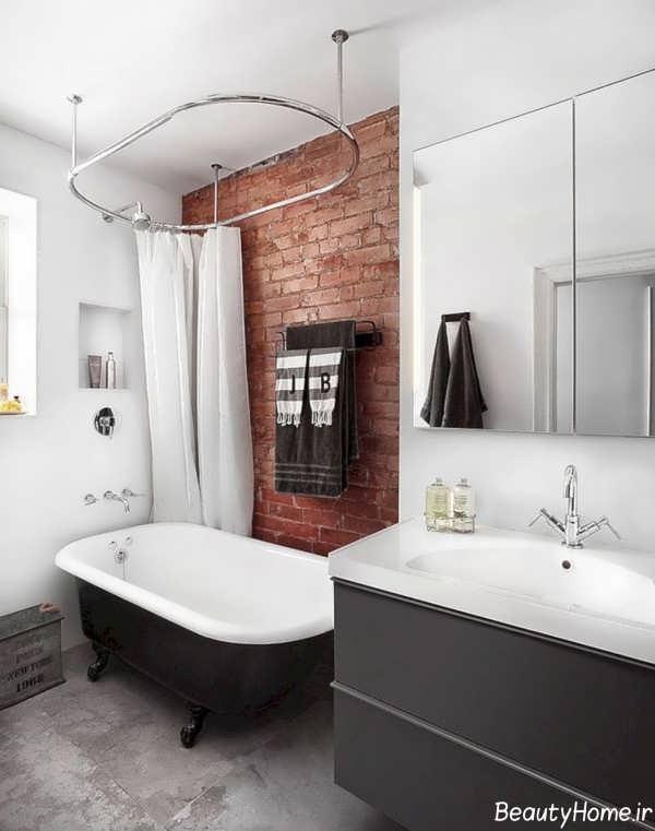 طراحی شیک منزل با دیوار آجری