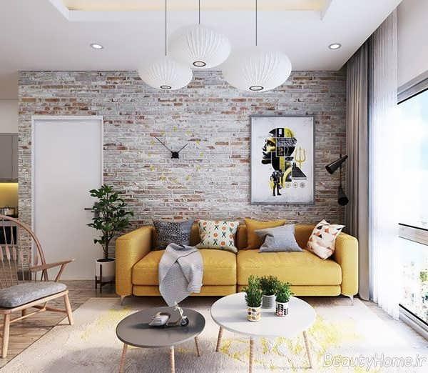 دیوار آجری در دیزاین داخلی منزل