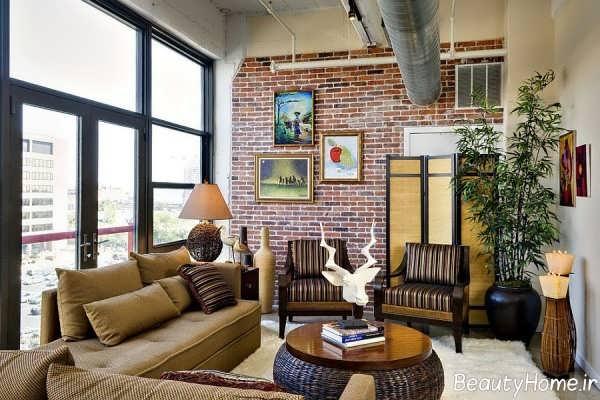 مدل های دیوار آجری در دیزاین داخلی منزل
