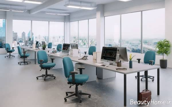 بازسازی طراحی داخلی ساختمان اداری